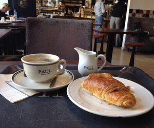 breakfast, croissant, and paul image