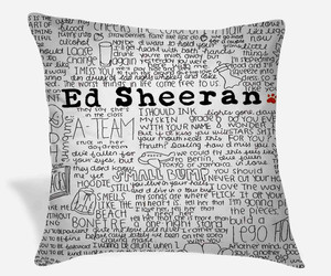 gift, pillow cases, and ed sheeran image