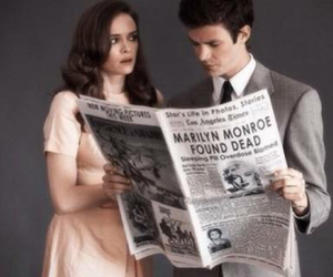 grant gustin, danielle panabaker, and the flash image