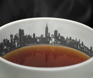 tea, city, and cup image