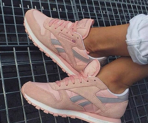 reebok, pink, and sneakers image