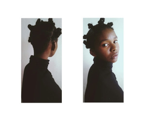 buns, hair, and afrogrunge image