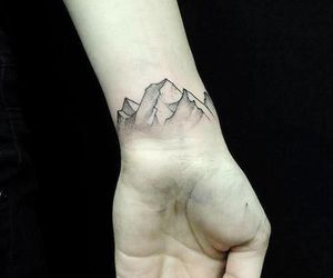 tattoo, mountains, and grunge image