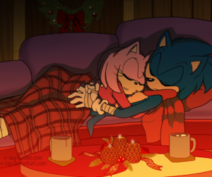 blue, couple, and sonic x amy image