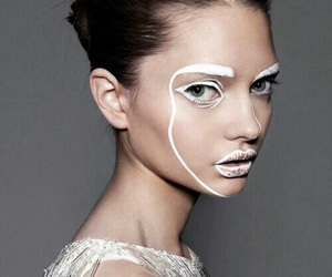 model, white, and beauty image