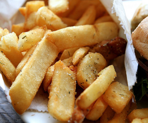 chips, food, and pommes image