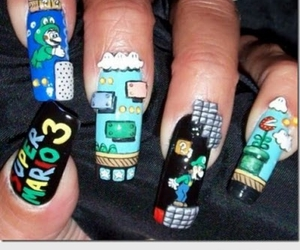 nails, mario, and super mario image