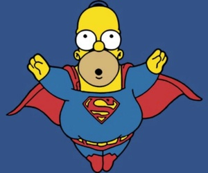 homer, superman, and funny image