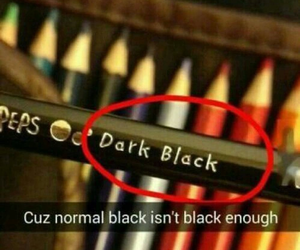 black, funny, and dark image