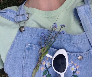 aesthetic, flowers, and outfit image