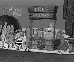money, patrick, and spongebob image