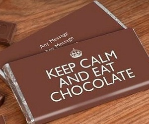 chocolate, food, and keep calm image