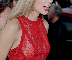 Taylor Swift, blonde, and red image