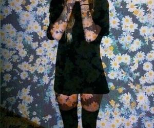 dark, fashion, and flowers image