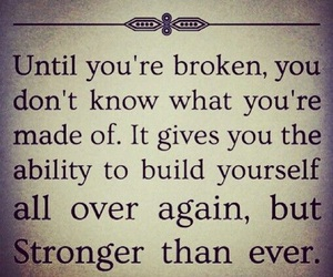 broken, life, and strong image