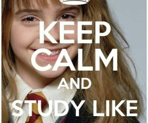harry potter, studying, and hermione granger image