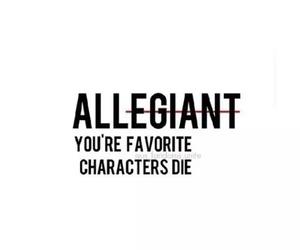 allegiant, divergent, and tris image