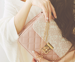 bag, beige, and cute girl image