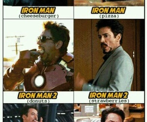 Avengers, tony stark, and food image