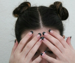 hair, nails, and grunge image