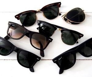 b & w, grunge, and sunglasses image