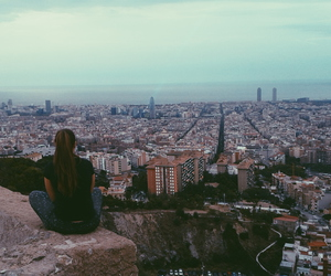 Barcelona, city, and girl image