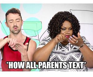funny, parents, and text image