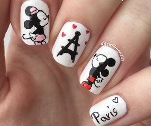nails, disney, and nailpolish image