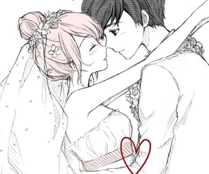 just be friends and anime wedding image