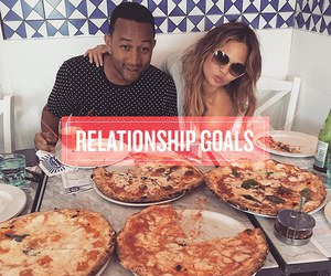 goals, pizza, and love image