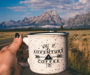coffee, adventure, and travel image