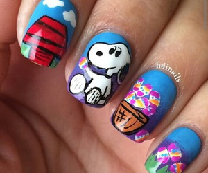 art, nails, and snoopy image