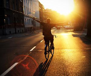 boy, bike, and sun image