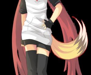 anime, anime girl, and anime fox image