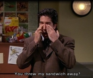 friends, sandwich, and ross image