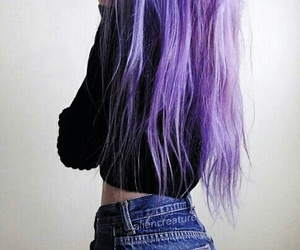 black, color hair, and grunge image