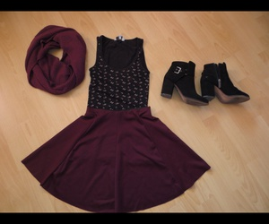 boots, burgundy, and fall image