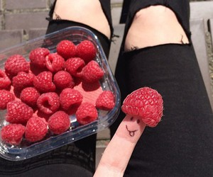 food, fruit, and black image