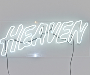 heaven, neon sign, and letters image