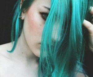 blue hair, hair, and alternative image