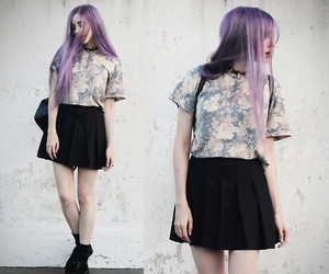 grunge, fashion, and purple image
