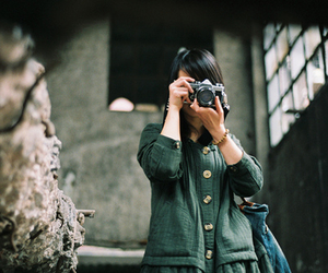 black hair, photography, and girl image