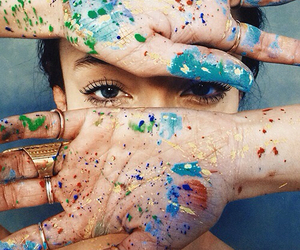 art, eyes, and paint image
