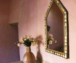 beautiful, flowers, and mirror image