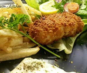 british, fish and chips, and food image