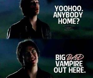 damon salvatore, funny, and vampire image