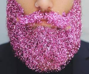 pink, beard, and glitter image