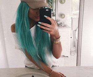 blue hair, Queen, and kylie jenner image