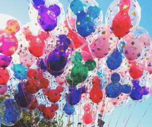 balloons, colorful, and disney image