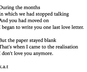 love, blank, and Letter image